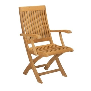 Devin Outdoor Teak Folding Armchair