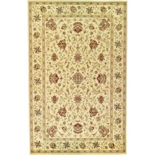 Agra Cream/Green Abstract Area Rug (10'6 x 16'5)