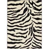 Unique Loom Zebra Wildlife Area Rug - 7' X 10'