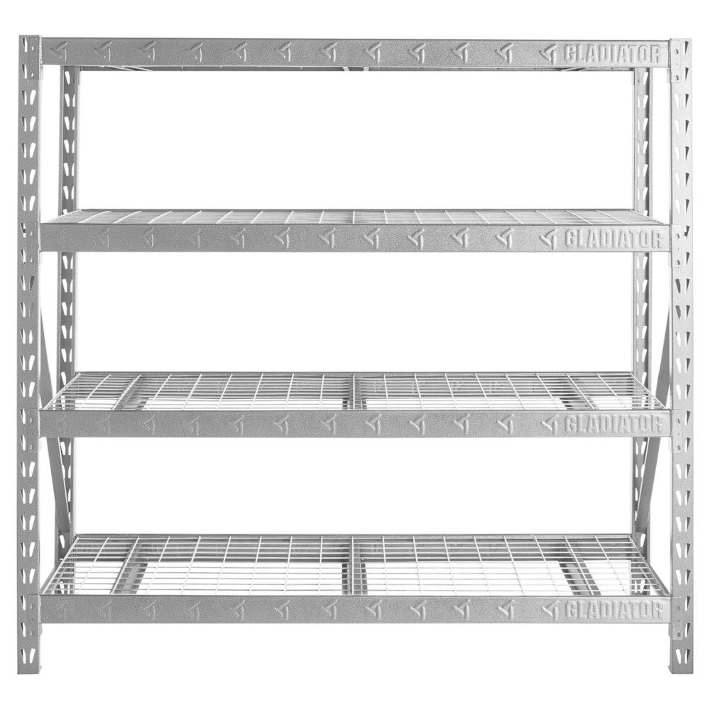 Cabinet Wall Mount Storage Garage Shelf Kitchen Secure Shelving Organizer Black