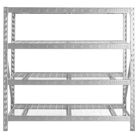 "Gladiator GarageWorks 77"" Wide Heavy Duty Rack with Four 24"" Deep Shelves"
