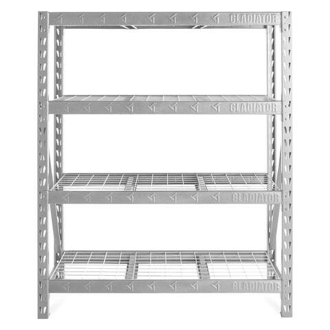 "Gladiator GarageWorks 60"" Wide Heavy Duty Rack with Four 18"" Deep Shelves"