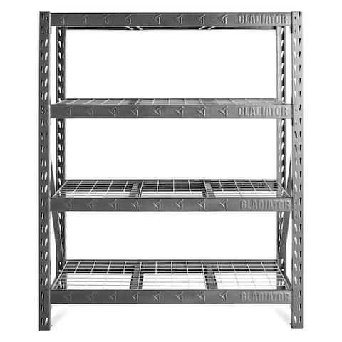 "Gladiator GarageWorks 60"" Wide Heavy Duty Rack with Four 18"" Deep Shelves"