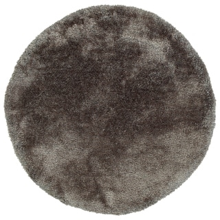 Bombay Home Silky Shag Taupe Hand-tufted Round Rug (8' x 8')