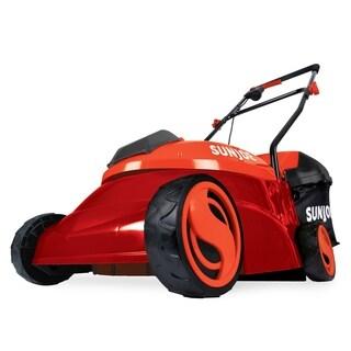 Sun Joe MJ401C-XR-RED Cordless Lawn Mower 14 inch 28V 5 Ah Brushless Motor (Red)