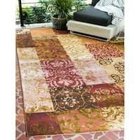Unique Loom Eden Patch Outdoor Area Rug - 10' x 12'