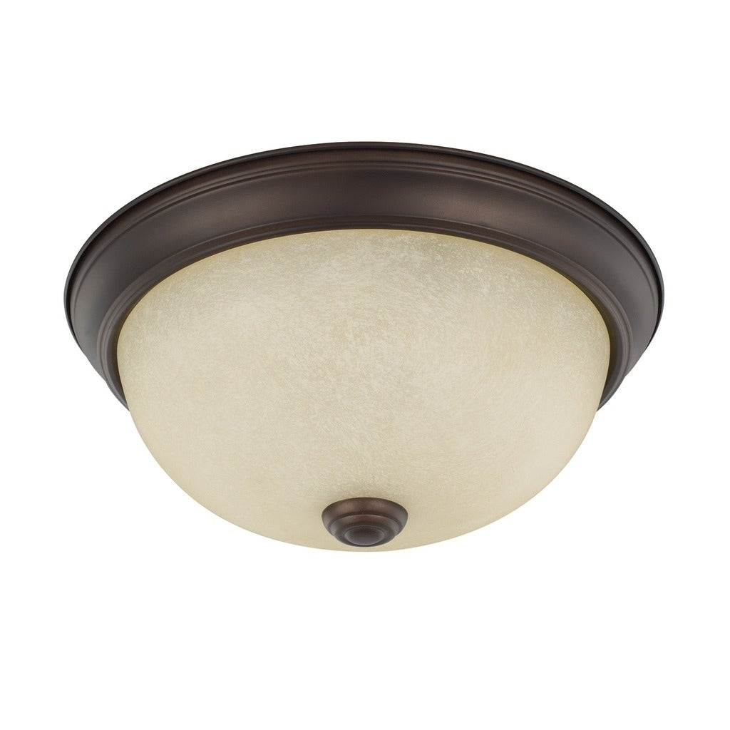 Capital Lighting Ceiling Collection 2-light Bronze Flush Mount - Overstock  - 18084656