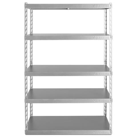 "Gladiator GarageWorks 48"" Wide EZ Connect Rack with Five 18"" Deep Shelves"