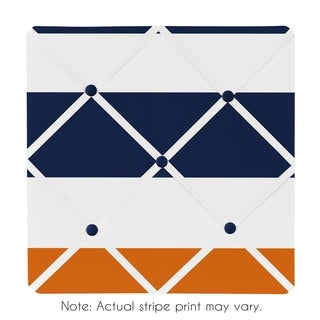 Sweet Jojo Designs Memo Board for the Navy Blue and Orange Stripe Collection