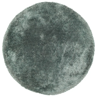 Hand-Tufted Silky Shag Mint Polyester Round Rug - 8' Round