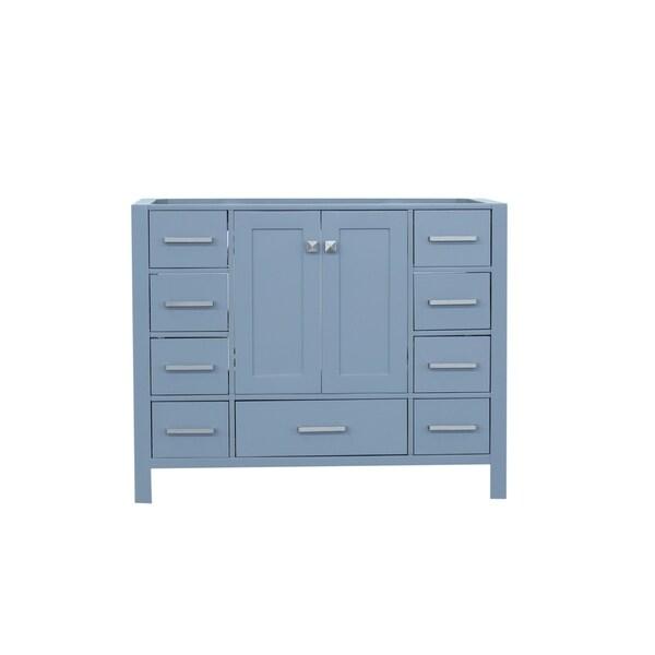 Ariel Cambridge 42 In. Single Sink Base Cabinet In Grey