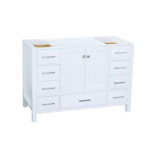 Ariel Cambridge 48 In. Single Sink Base Cabinet In White