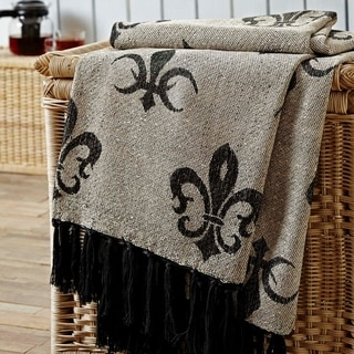 Elysee Chenille Jacquard Woven Throw