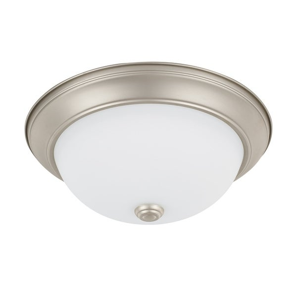 Capital Lighting Ceiling Collection 2-light Matte Nickel Flush Mount