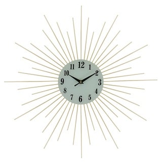 Gold Spikes Metal Wall Clock, 20""