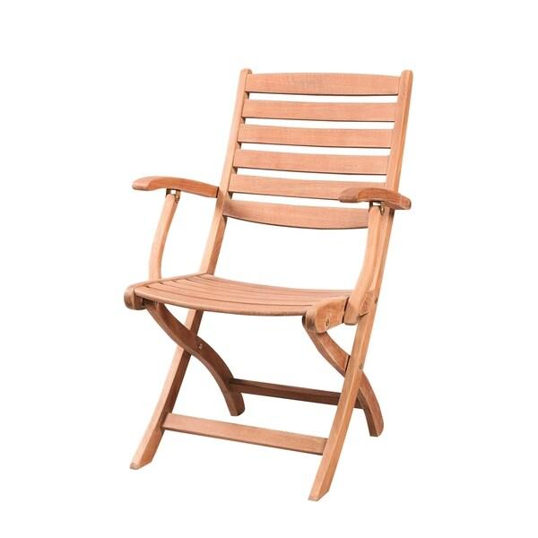Clint Outdoor Teak Folding Armchair