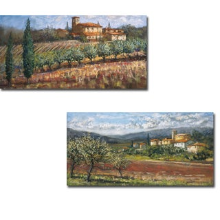 Tuscan Olives and Hillside Olives by Malcolm Surridge 2-piece Gallery-Wrapped Canvas Giclee Art Set
