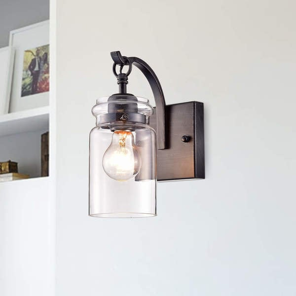 Black Finish Bathroom Lighting: Shop Anastasia Antique Black Single Light Wall Sconce With