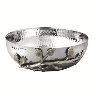 "Heim Concept Sparkle Silver Leaf Bowl 6.5"""