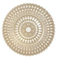 Heim Concept Set of 4 Lace Glass Dining Charger Plates