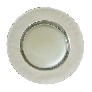 Heim Concept Luster Platinum Chargers Set of 4  sc 1 st  Overstock.com & Metal Dinnerware For Less | Overstock
