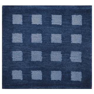 Handmade Herat Oriental Indo Hand-knotted Tibetan Wool Accent Rug (1'6 x 1'6)