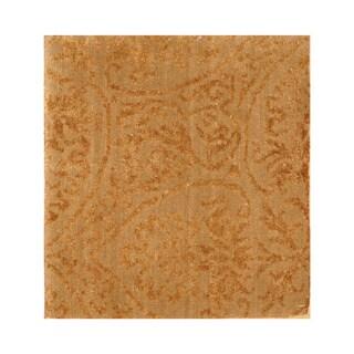 Handmade Herat Oriental Indo Hand-knotted Tibetan Wool Accent Rug (India) - 1'4 x 1'4