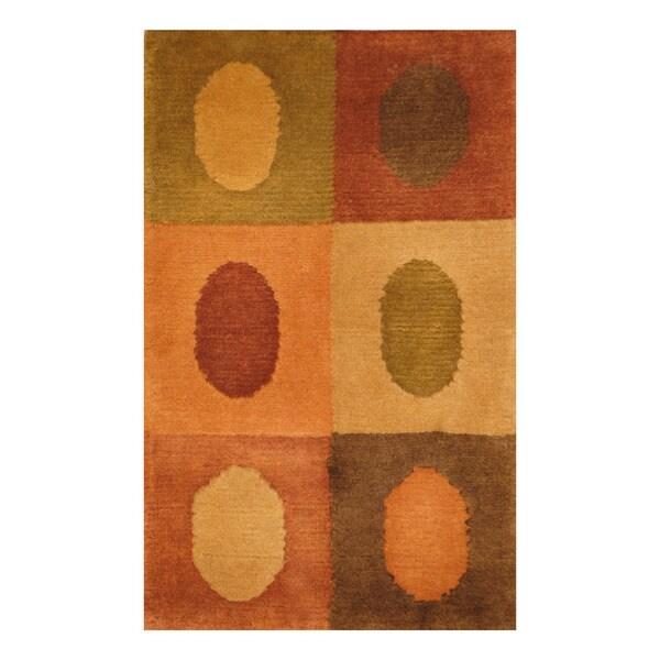 Handmade Herat Oriental Indo Hand-knotted Tibetan Wool Accent Rug (1'4 x 2'1)