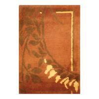 Handmade Herat Oriental Indo Hand-knotted Tibetan Wool Accent Rug - 1'4 x 2'