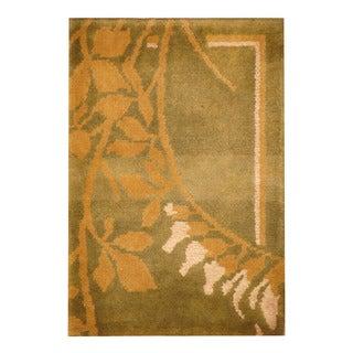 Handmade Herat Oriental Indo Hand-knotted Tibetan Wool Accent Rug (1'5 x 2'1)