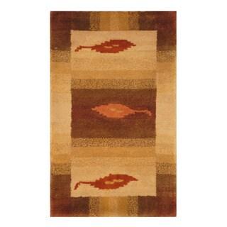 Handmade Herat Oriental Indo Hand-knotted Tibetan Wool Accent Rug (India) - 1'4 x 2'2