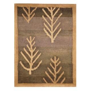 Handmade Herat Oriental Indo Hand-knotted Tibetan Wool Accent Rug (1'4 x 1'10)