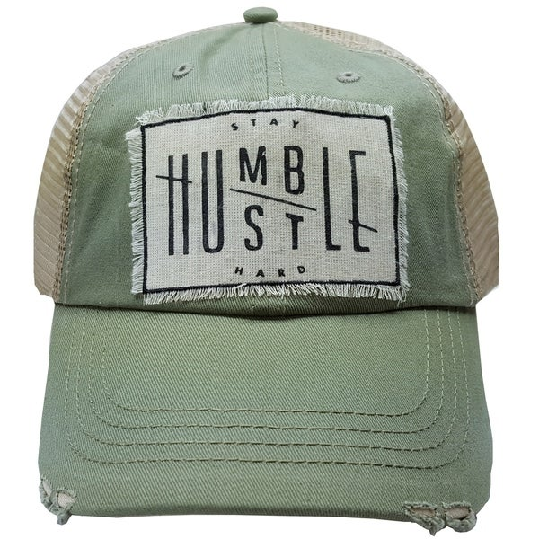 c8230a80909 Shop Women s MBellished Sage Green Distressed Trucker Cap with