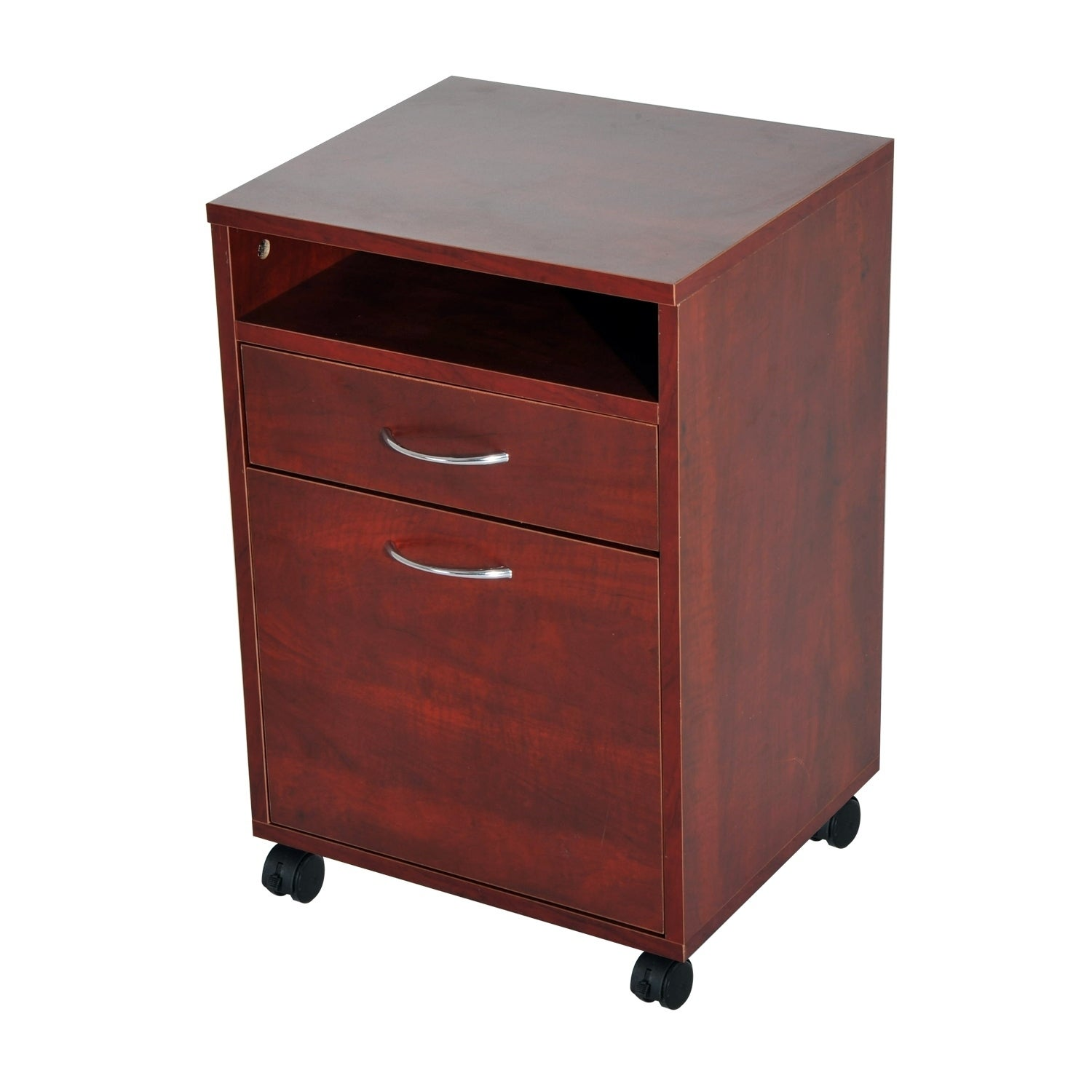 Details about  /HomCom 24  Rolling End Table Mobile Printer Cart Nightstand Organizer Black