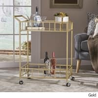 Varadero Outdoor Industrial Bar Cart by Christopher Knight Home