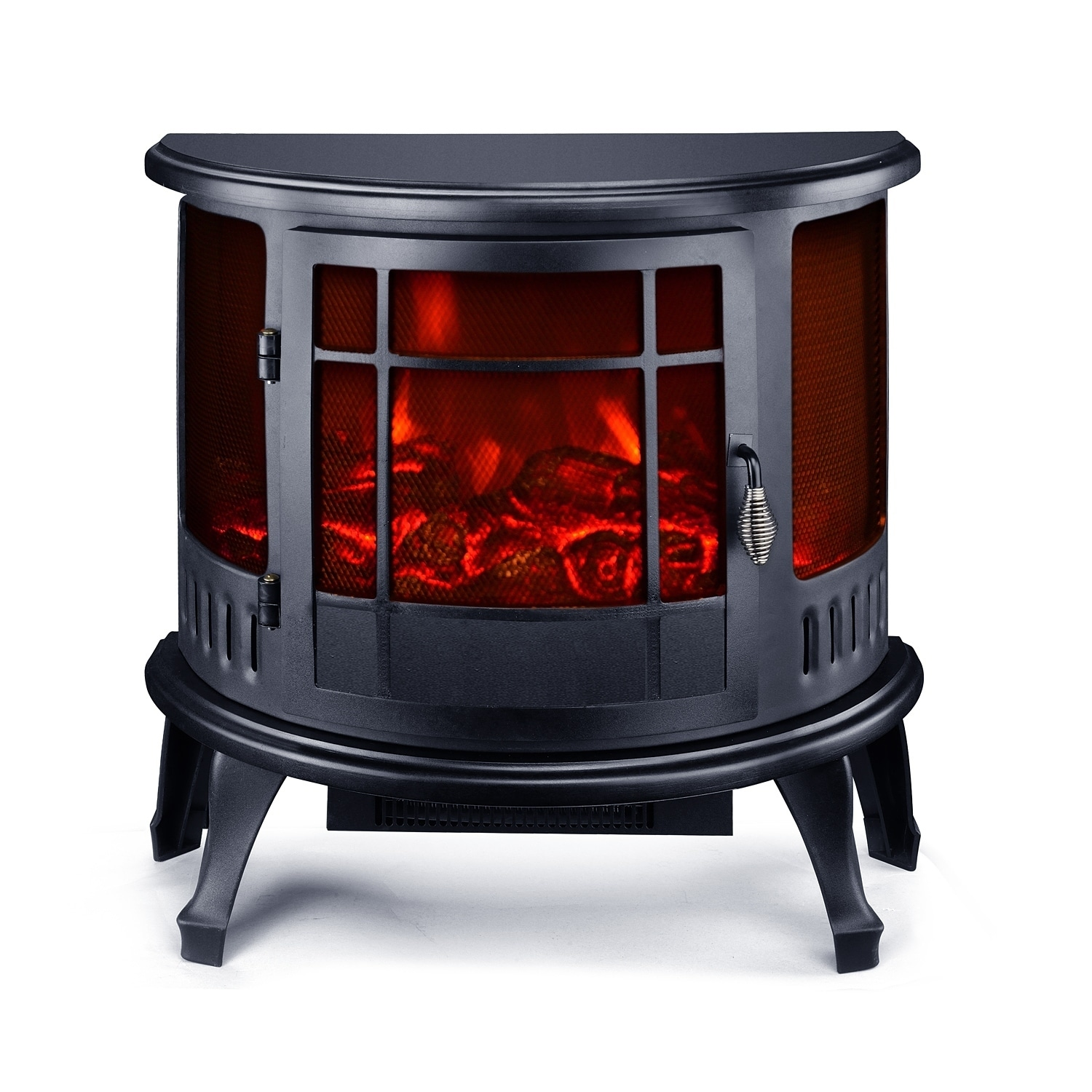 "HomCom 23"" 1500W Free Standing Electric Fireplace - Black..."