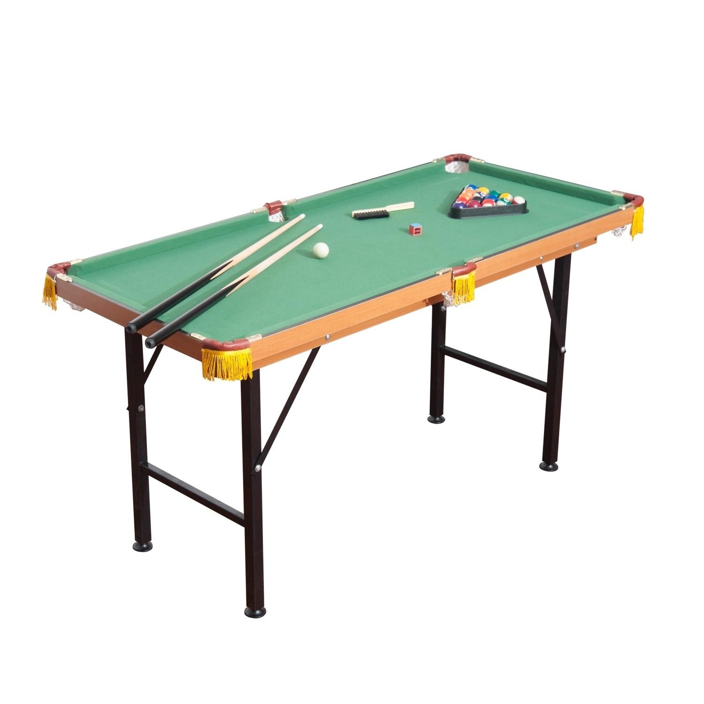 Beau HomCom 55 Realistic Fleece Compact Lightweight Foldable Pool Billiards Table