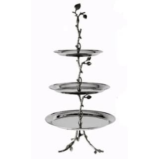 Heim Concept Sparkle Silver Leaf 3-Tier Tray