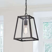 Ashley Antique Black 1-Light Small Pendant
