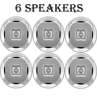 Lanzar 400 Watts 5.25'' 2-Way Marine Speakers (Silver Color) 3 Pairs