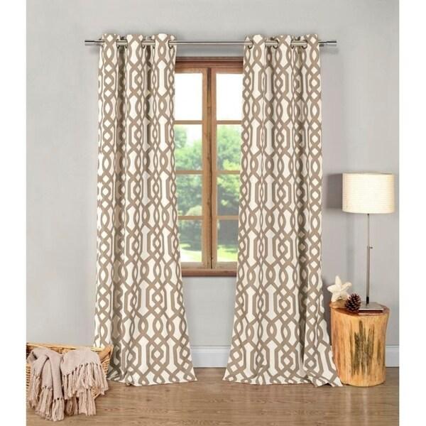 """Duck River Ashmont Geometric Blackout Curtain Panel Pair - 38x112""""/2pc"""