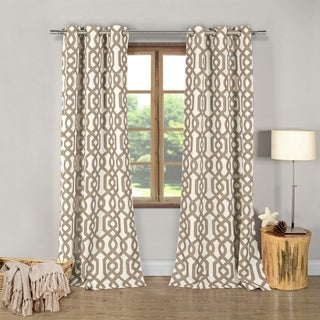 "Heavy Blackout Ashmont 76X112"" Blackout Grommet Curtain Panel Pair"