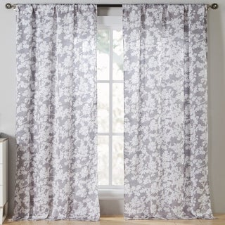 Kensie Ainna Floral Curtain Panel Pair