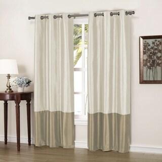 """Duck River Bridgette Color Block Blackout Curtain Panel Pair - 37x84"""""""