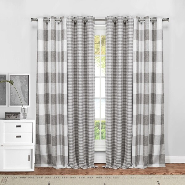 "Duck River Colin 4-Piece Blackout Curtain Panel Pair - 37x84"" 4pcs"