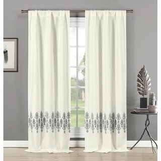 Duck River Avelina Hang Two Ways Curtain Panel Pair - 76x84""