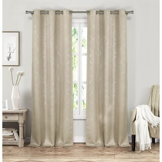 Duck River Stephanie Metallic Blackout Curtain Panel Pair - 37x84