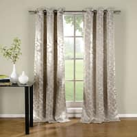 Duck River Zayden Metallic Floral Blackout Curtain Panel Pair - 76x96""