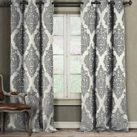 """Duck River Catilie Damask Curtain Panel Pair - 38x84"""""""