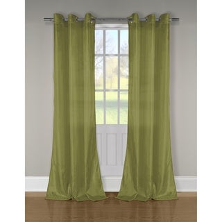 Duck River Aurora Solid Crushed Taffeta Sheer Curtain Panel Pair - 52x84""